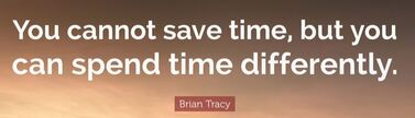 saving time quote